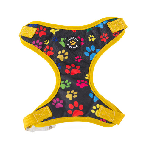Yellow My Prints Dog Harness