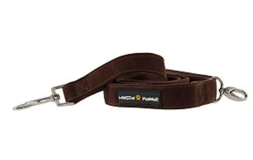 Brown velvet feel dog leash