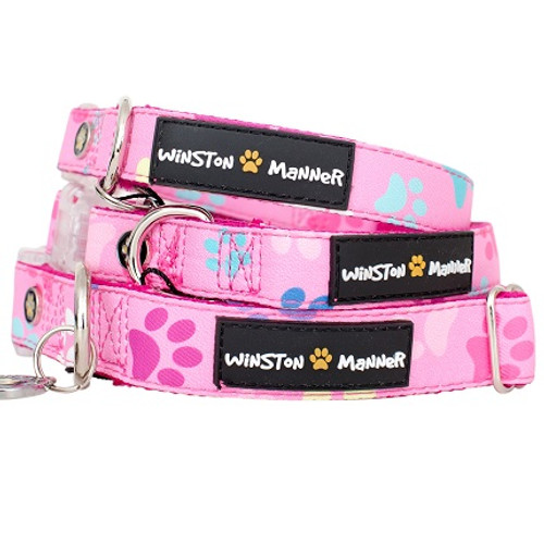 Pink Paws Dog Collar