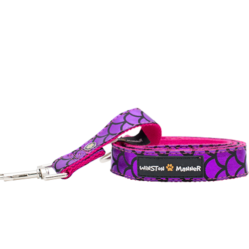 Violet Mermaid Dog Leash