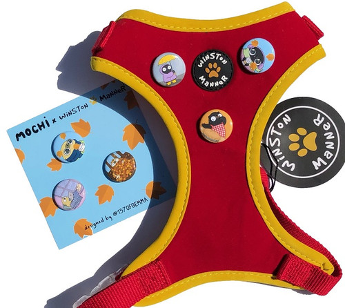Mochi's Autumn Falls Dog Harness - 3 badges