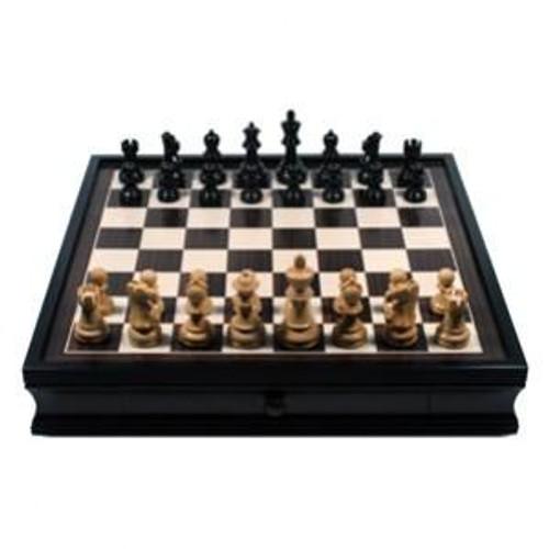 English Chess Set with Storage Drawers