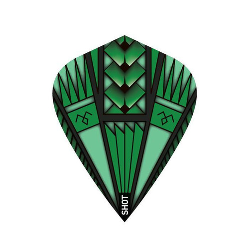 Shot Darts Armour Green Flights - Kite