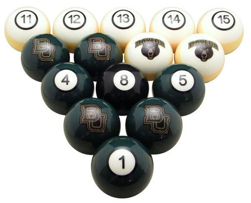 BAYLOR POOL TABLE - NUMBERED SET