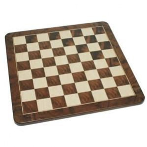 Ebony and Birdseye Veneer Chess Board