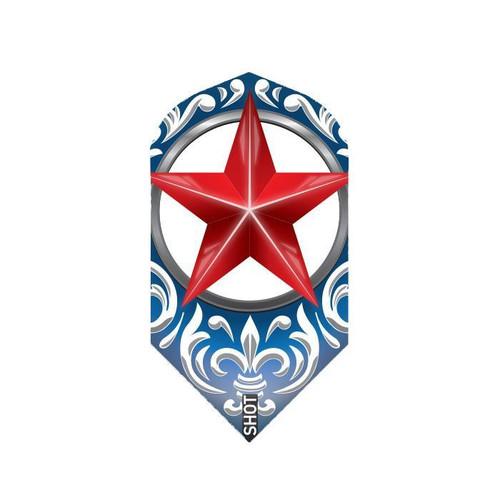 Shot Darts Wild Frontier Trailblazer Red Star Flights - Slim