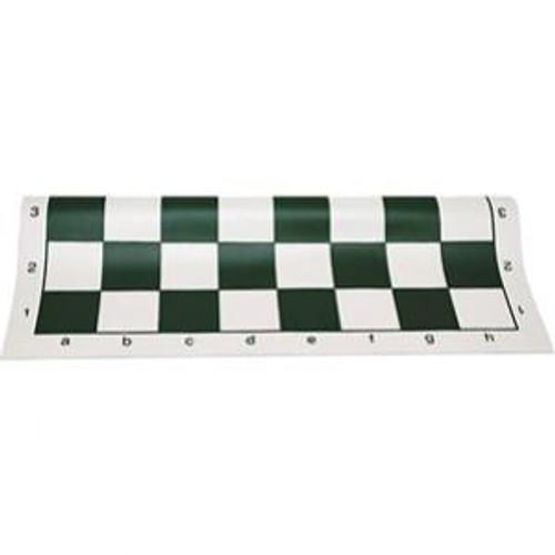 Green Vinyl Roll-Up Chess Board