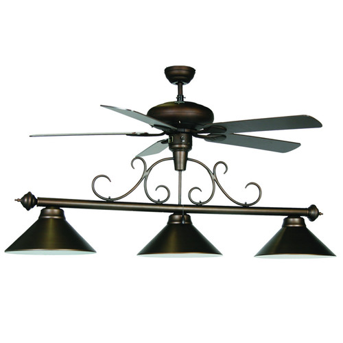 RAM OIL RUBBED BRONZE FAN LIGHT