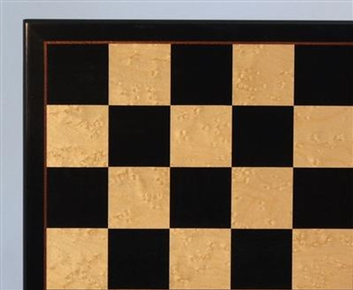 BLACK/BIRDSEYE MAPLE VENEER CHESS BOARD