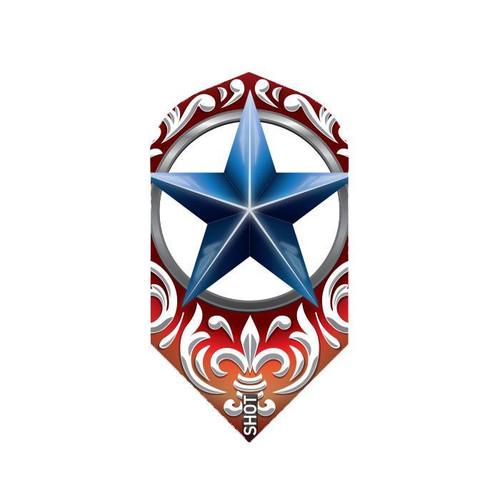 Shot Darts Wild Frontier Trailblazer Blue Star Flights - Slim