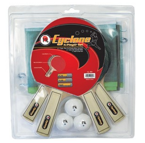 4 Player Cyclone Table Tennis Racket Set