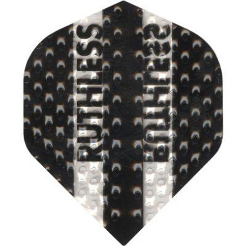 RUTHLESS DIMPLEX STANDARD DART FLIGHTS - BLACK AND CLEAR