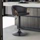 Solstice Adjustable Black Faux Leather Barstool