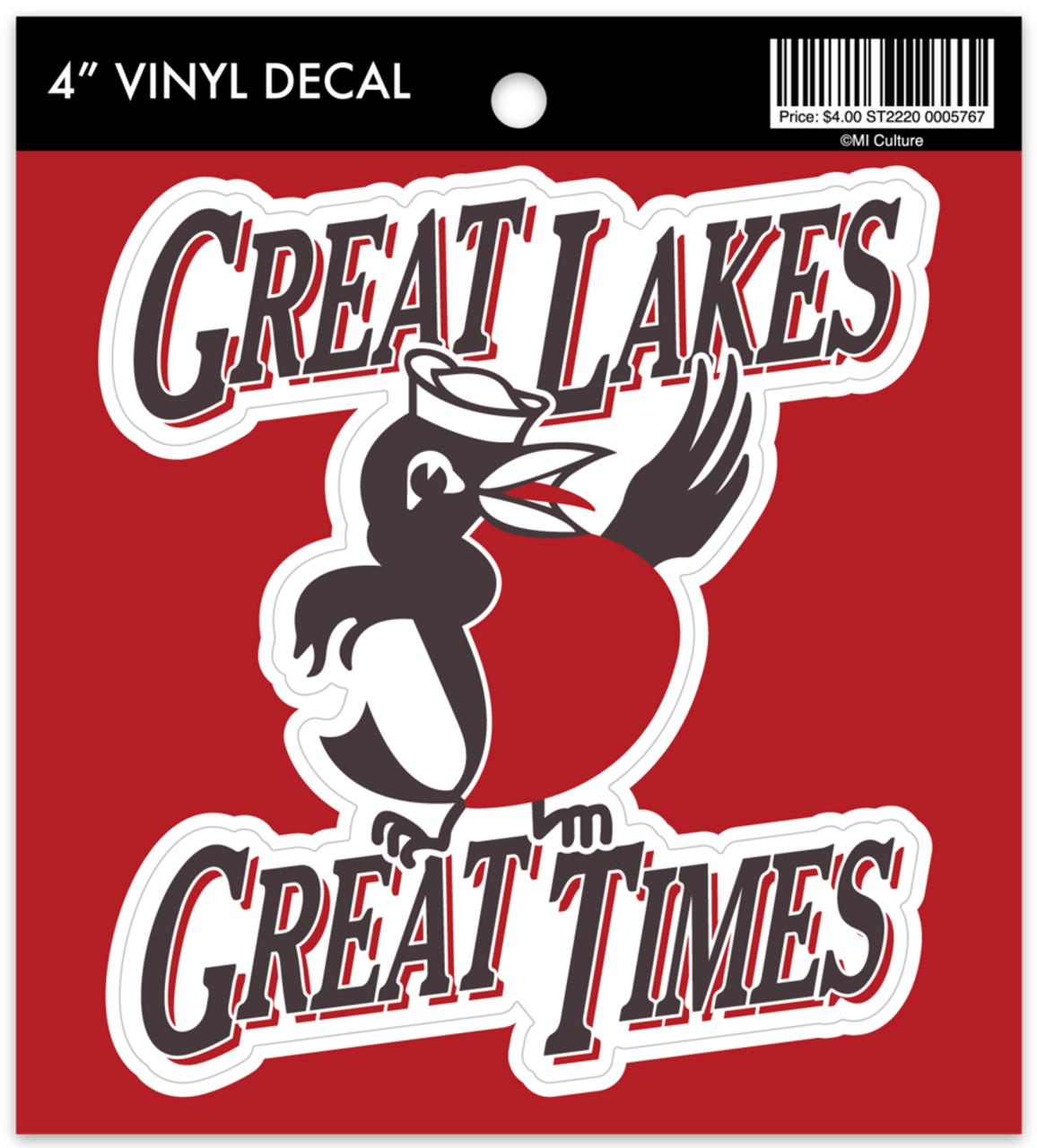 MI Culture Great Lakes Great Times Robin Vinyl Decal