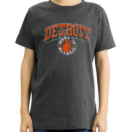 dc3d100f Made In Detroit Youth Smoke w/ Orange Arch Madness Tee