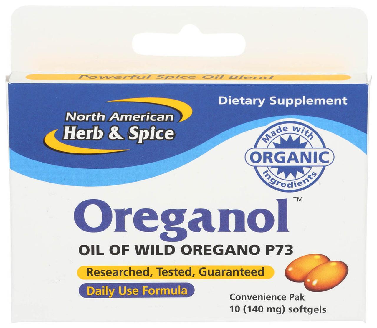 North American Herb Spice Oreganol 10ct Elm City Market