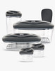 Dafi Set of 5 Vacuum Containers with Electric Pump Anthracite Made In Europe BPA-Free