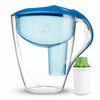 Dafi Astra LED Filtering Water Pitcher 12 Cup + Alkaline Filter Made in Europe BPA Free
