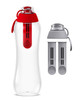 Dafi Filtering Water Bottle Red 17 fl oz + 2 Gray Filters + New Gray Bottle Cap