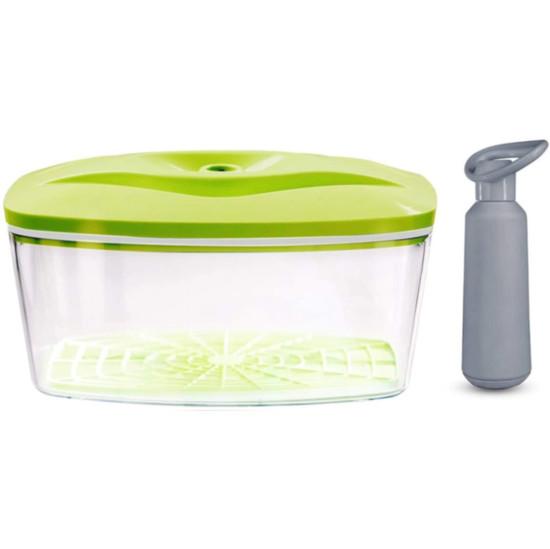 Dafi Vacuum Container 90 fl oz + Manual Pump Lime Made In Europe BPA-Free
