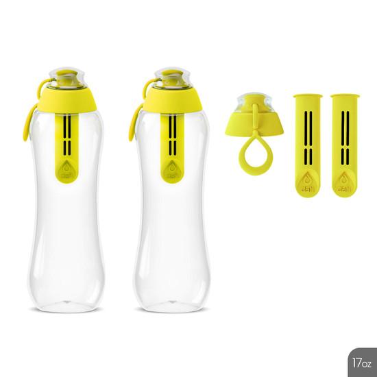 Dafi Filtering Water Bottles 17 fl oz + 2 Filters + New Cap Made In Europe BPA Free