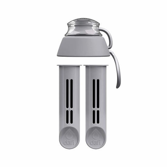 Dafi Water Bottle Replacement Filter 2 Pack + New Cap Made In Europe BPA-Free