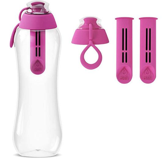 Dafi Filtering Water Bottle 17 fl oz + 2 Filters + New Cap Made In Europe BPA-Free