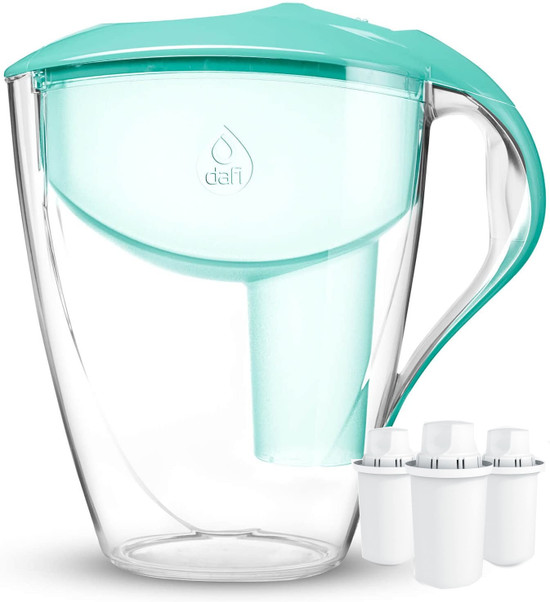 Dafi Astra Standard Filtering Water Pitcher 12 Cup Mint + 3 Standard Cartridges BPA-Free