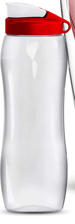 Dafi Alkaine UP Crystal Glass Pitcher 8 Cups + 24 fl oz Filtered Water Bottle + 24 fl oz Bidon BPA-Free