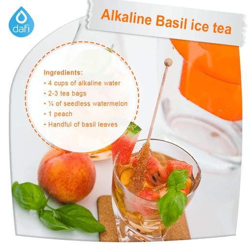 Alkaline Basil ice tea