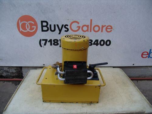 Enerpac Hydraulic Pump for Pipe Bender 3 HP 10,000psi Model PEM-5205H 5 gal #1