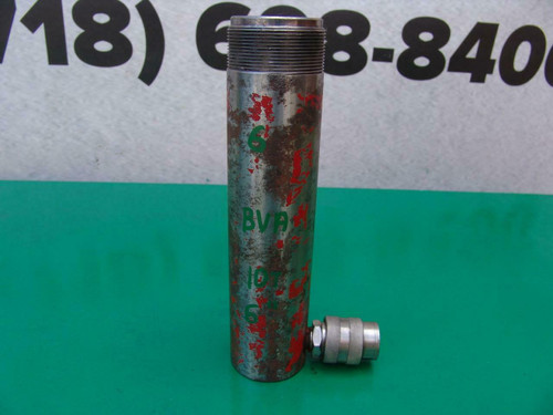 BVA Hydraulic Cylinder 10 Ton 6 inch Stroke 10,000 PSI   Works Fine  #6
