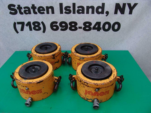 Janox 250 Ton Hydraulic Cylinders 2 inch Stroke Set of 4  Enerpac.  Great Set
