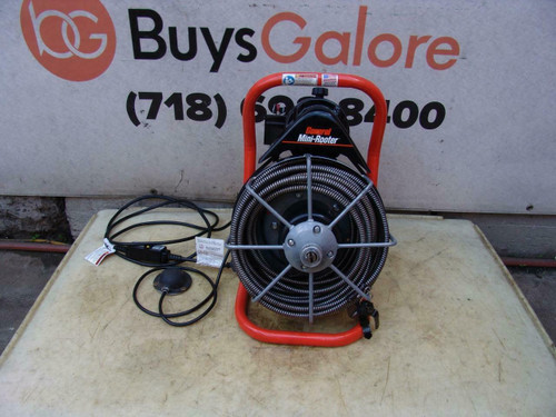 """General Wire Mini-Rooter XP 1/2"""" x 50' Cable Sewer Line Cleaning Drain"""