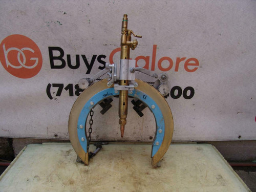 "H&M Pipe Beveling Machine Beveler C-12 6"" - 12"" Cutting Welding Great Shape"