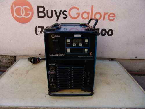 Miller PipeWorx 350 FieldPro Welder 1 or 3 Phase 230/460/575 Volts Nice Unit #2