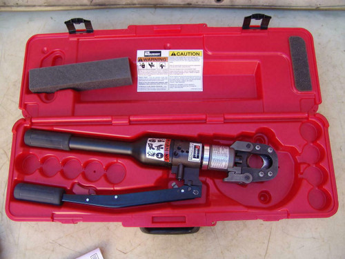 "Burndy YCUT129ACSR 1.29"" 7-Ton Hydraulic Hand Operated Cable Cutter  New #2"