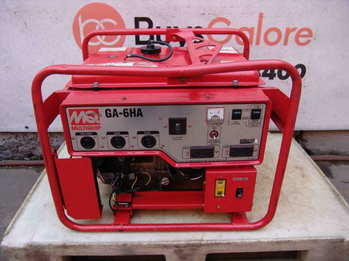 Multiquip MQ Generator GA-6HA  6000 Watts 120/240V Honda Motor Great Shape