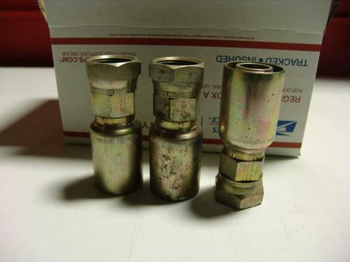 Eaton Coll-O-Crimp Hydraulic Hose End  16U-990 set of 3   #12