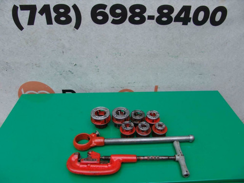 Greenlee 111R 1/8 to 1 1/4 Pipe Threader Set Cutter  Great shape   #1