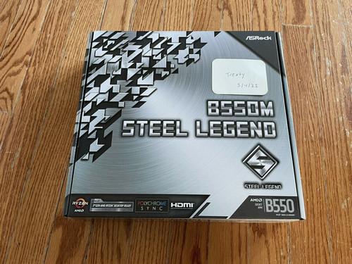 ASRock B550M Steel Legend AM4, AMD Motherboard. New In Hand
