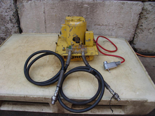 ENERPAC HYDRAULIC PUMP DOUBLE ACTING 10,000 PSI WORKS FINE