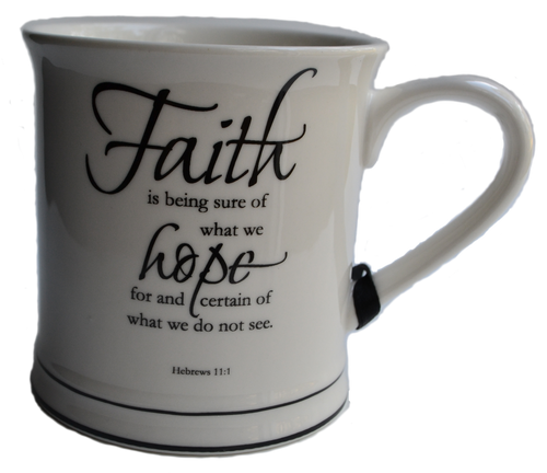 Faith Scripture Mug Candle
