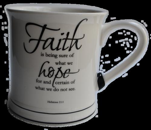Faith Scripture Mug Candle
