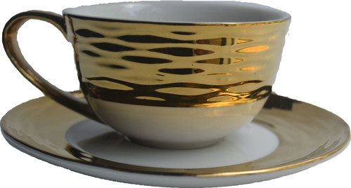 Gold Tea Cup & Saucer Soy Candle
