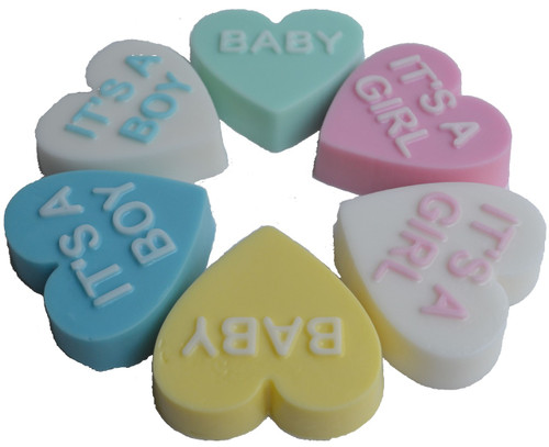 Baby Shower Heart Soap