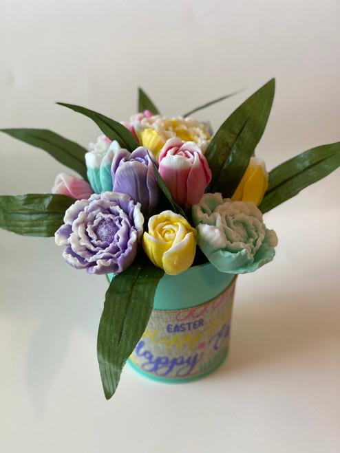 Tulip & Peony Flower Bouquet Soap
