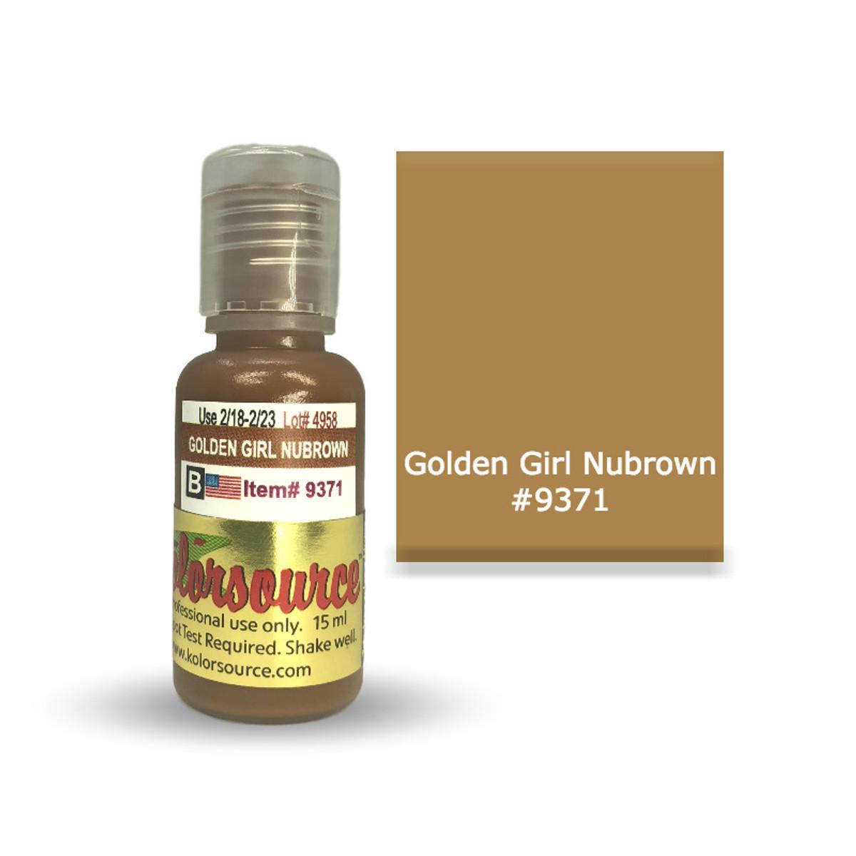 Kolorsource Permanent Makeup Pigment (PMU) Golden Girl Nubrown #9371 - 15ml