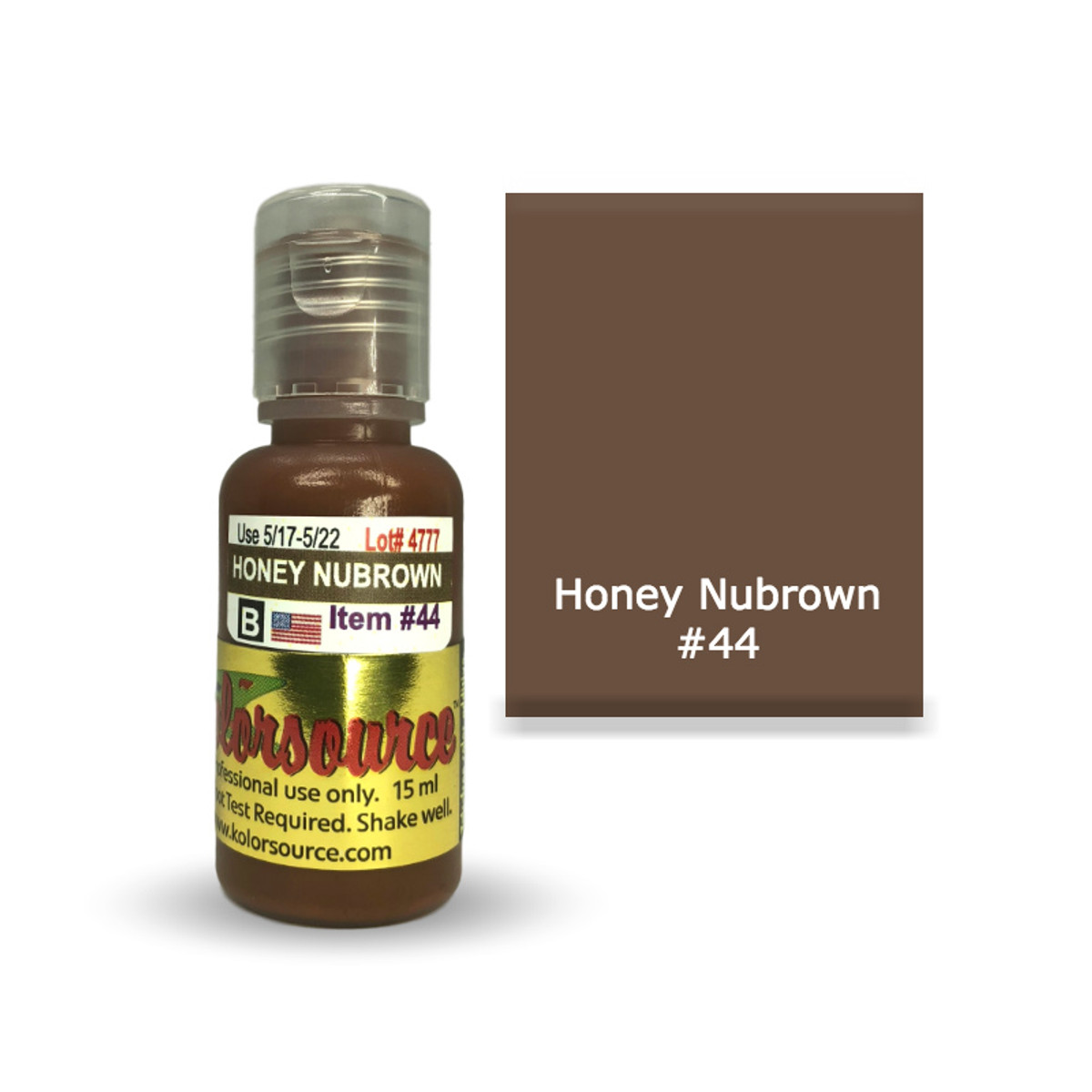 Kolorsource Permanent Makeup Pigment (PMU) Honey Nubrown #44 - 15ml