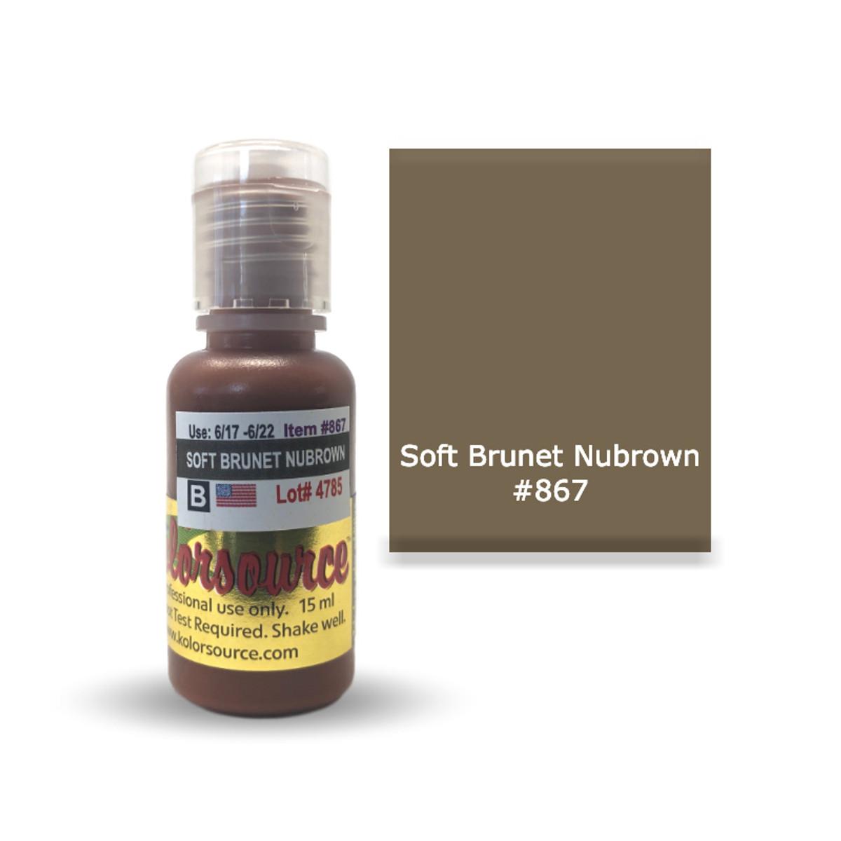 Kolorsource Permanent Makeup Pigment (PMU) Soft Brunet Nubrown #867 - 15ml